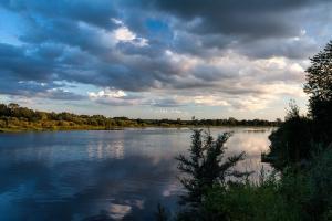 Пейзажная фотосъемка. Закат на реке Луге